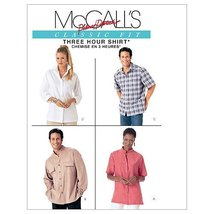 McCall's Patterns M4079 Misses' and Men's Shirts, Size Y (SM-MED-LRG) - $9.80