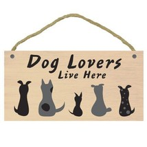 Imagine this dog lovers here wood sign thumb200
