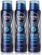 Nivea Fresh Active Original 48 Hours Deodorant, 150ml  X 3 pack *** - $26.43