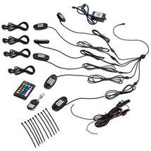 6 Set LED Rock Lights APP RF Control IP68 6 Pods Rock Lamp For Pickup AT... - $54.25