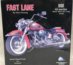 "1000 Piece Jigsaw Puzzle ""Fast Lane Motorcycle Shaped"" [Brand New] - $59.09"