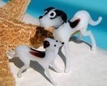 Vintage blown glass dog figurines brown white great dane thumb155 crop