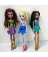 3 Monster High Cheerleader Dolls Clawdeen Wolf ,Cleo De Nile, Lagoona Blue - $28.04