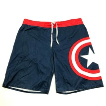 MARVEL Concept One Captain America Board Shorts Size 38 Waist Swim Trunk... - $15.14