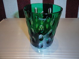 Details about   Faberge Emerald Green Blue  Crystal  Old Fashion Glass - $225.00