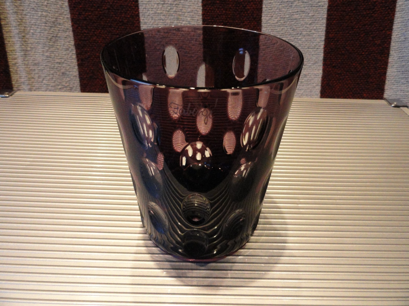 Primary image for Details about   Faberge Purple  Crystal  Old Fashion Glass