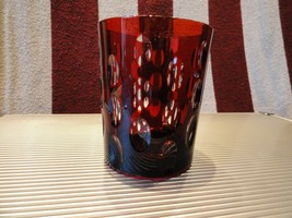 Details about   Faberge Ruby Red  Crystal  Old Fashion Glass - $225.00