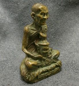 THAI POWERFUL BUDDHA MINIATURE AMULET LP KALONG LUCKY RICH SUCCESS THAILAND GIFT image 4