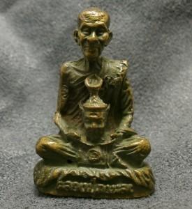 THAI POWERFUL BUDDHA MINIATURE AMULET LP KALONG LUCKY RICH SUCCESS THAILAND GIFT image 5