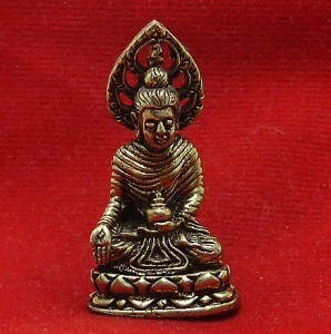 THAI BUDDHISM MINI AMULET LORD BUDDHA ENLIGHTEN WIN ALL OBSTACLES SIAM NICE GIFT image 5