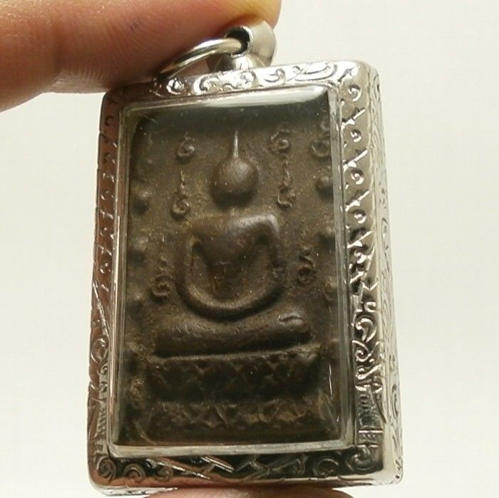 LP BOON BUDDHA IN SACRED TEMPLE PEACEFUL HAPPY LUCKY SUCCESS THAI AMULET PENDANT image 3