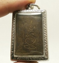 LP BOON BUDDHA IN SACRED TEMPLE PEACEFUL HAPPY LUCKY SUCCESS THAI AMULET PENDANT image 4