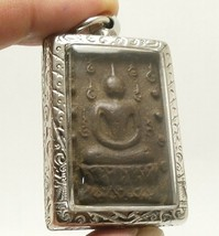 LP BOON BUDDHA IN SACRED TEMPLE PEACEFUL HAPPY LUCKY SUCCESS THAI AMULET PENDANT image 2
