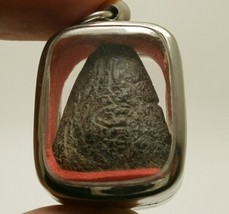 THAI ANTIQUE BUDDHA AMULET PENDANT LP BOON STRONG BLESSING HAPPY LUCKY RICH LIFE image 4