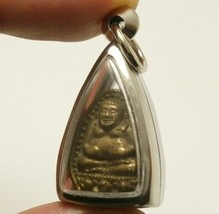 LP KOON MAGIC SANGKAJAI MIRACLE RICH LUCKY HAPPY BUDDHA REAL THAI AMULET PENDANT image 3