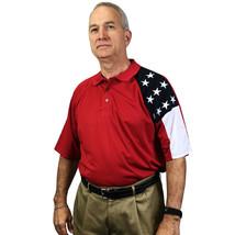 New** USA Flag Moisture Wicking Polo | American Flag Polyester polo - $42.50+