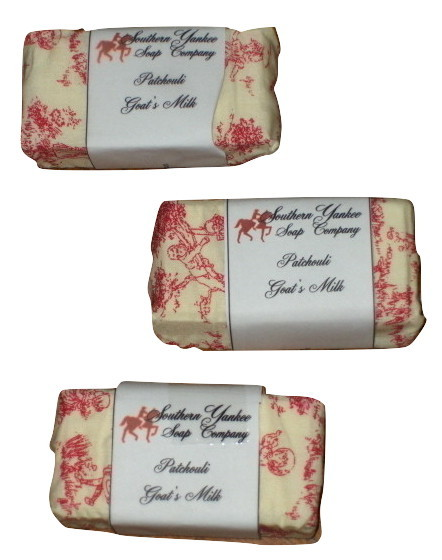 Southern Yankee  Patchouli Goats Milk Soap 3 lot