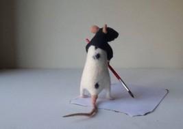 Rat doll, Needle felt sculpture, Life size, Poseable - $148.50