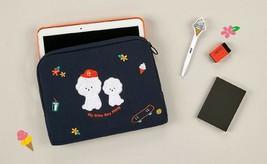 AntenaShop Boucle Bichon iPad Tablet Sleeve Pouch Bag Cover Case Korean Design image 2
