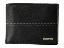 NEW STEVE MADDEN MEN'S PREMIUM LEATHER CREDIT CARD ID WALLET BLACK N80029/08 image 1