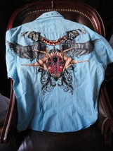 XXX- Large  Short Sleeve Shirt Light Blue   - $50.00