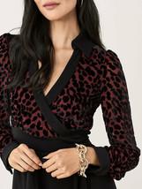 Diane von Furstenberg Wendy Velvet Burnout Wrap Dress, $595, S, Final Sale! - $170.10