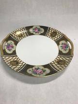 Noritake China Ornate Gold Encrusted Open Handled M Plate Dish Vintage 1... - $25.24