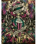 "Ed Hardy Christian Audigier 6×2 Scarf ""Death Before Dishonor"""
