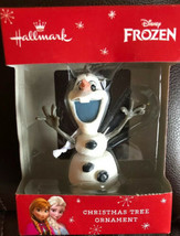 Disney Frozen Olaf Hallmark Christmas Ornament Skating Snowman 2015 NEW - $10.88