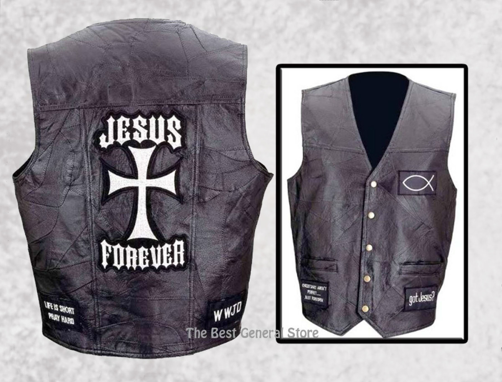 Jesus forever vest composite gfvcross 1800