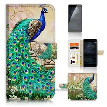 Nokia 6 Phone Flip Wallet Cases Cover Peacock - $25.65