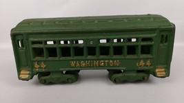 Vintage Cast Iron Train Passenger Car Green Gol... - $46.05
