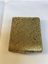 Vintage Max Factor Gold Tone Floral Makeup Compact (1512) - $15.00