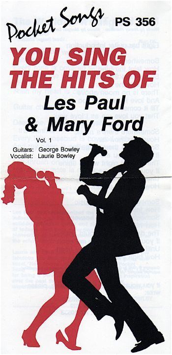 Hits of Les Paul and Mary Ford Karaoke Cassette (New)
