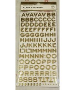 4x Alpha & Number Gold Foam Stickers FOUR Packs! 249pc 996 total America... - $13.27