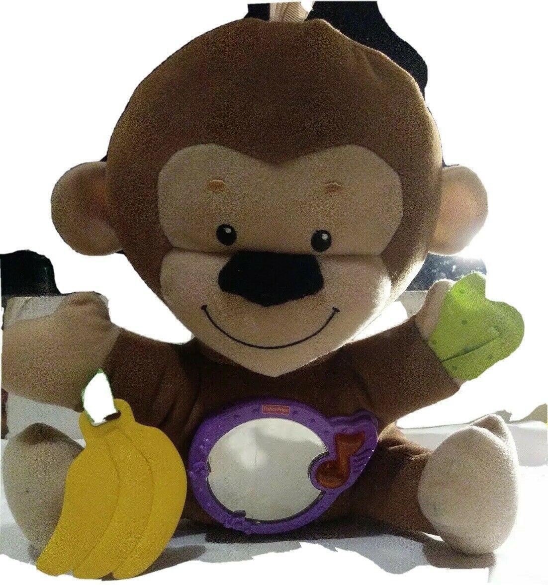 Fisher Price SnugaMonkey Monkey Music Lights Sleep Soother Plush Toy R7879 2009 - $14.84