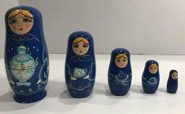 Set 5 Russian Nesting Dolls Stacking Dolls Babushka Matryoshka - $44.55