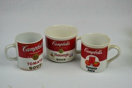 (3) Campbell's Soup Mugs, Soup, juice and Homestyle - $35.63
