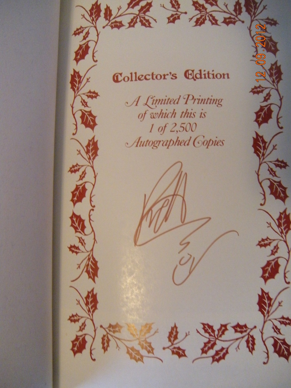 Rare THE CHRISTMAS PIPE book Signed