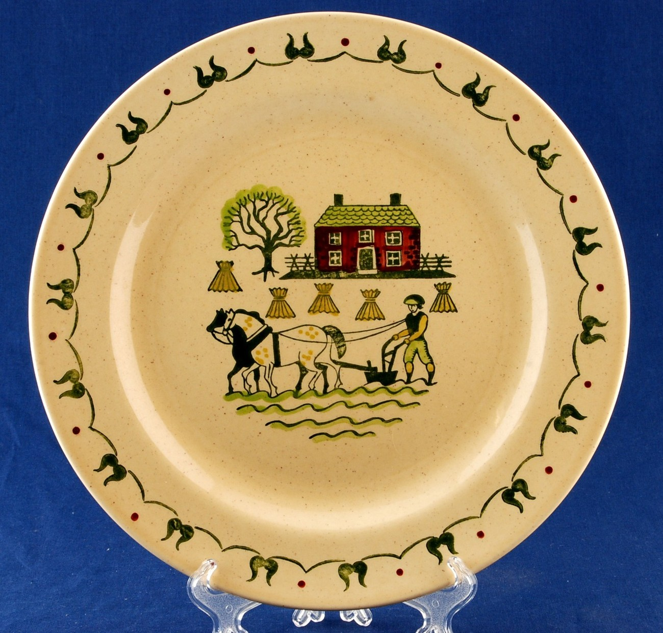 "Metlox Homestead Provincial Poppytrail 12"" Round Serving Platter Plate"
