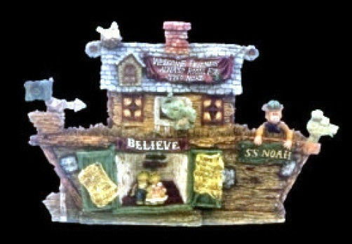 "*Boyds Bearstone ""S.S. Noah...The Ark"" Series #1 * #2450 * NEW* 1999* Retired"