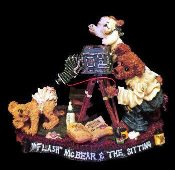 "Boyds Bearstone ""Flash McBear and The Sitting""  #227721* NIB* 1999* Retired"