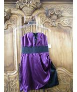 "Jrs.""Charlotte Russe"" Cute & Trendy~ Purple/Black~ Strapless Dress ~ Siz... - $19.99"