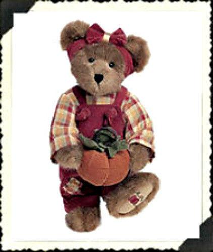"Boyds Bears ""Penelope P. Punkinbeary"" -14"" Bear   #904011- NWT-2002-Retired"