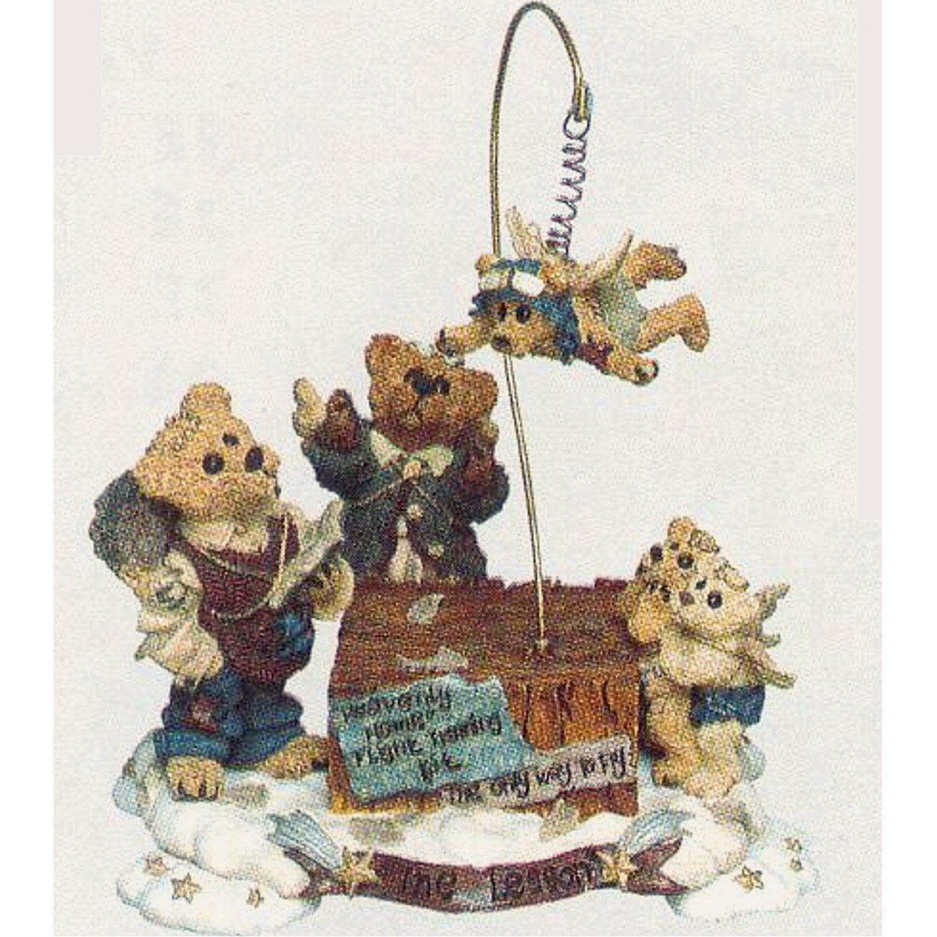 """Boyds Bearstone""""The Flying Lesson..This End Up"""" Style #22781*Musical*NIB*Retired"""