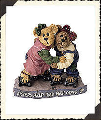 """Boyds Bearstone """"Jackie & Leigh.. As Time Rolls By"""" #228346* 1E* NIB* Retired"""