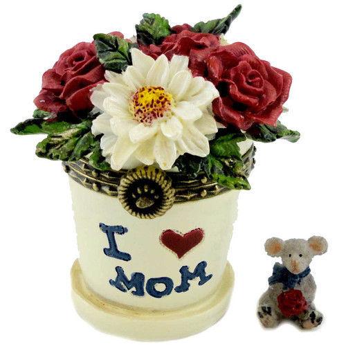 "Boyds Treasure Box ""Lil' Junior's Flowerpot w/ Petal McNibble"" #4027346- 1E- NIB"