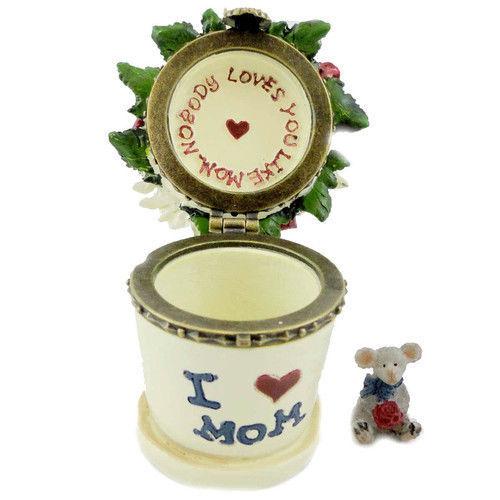 "Boyds Treasure Box ""Lil' Junior's Flowerpot w/ Petal McNibble"" #4027346- 1E- NIB image 2"