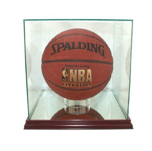 Perfect Cases NBA Rectangle Basketball Glass Display Case, Cherry