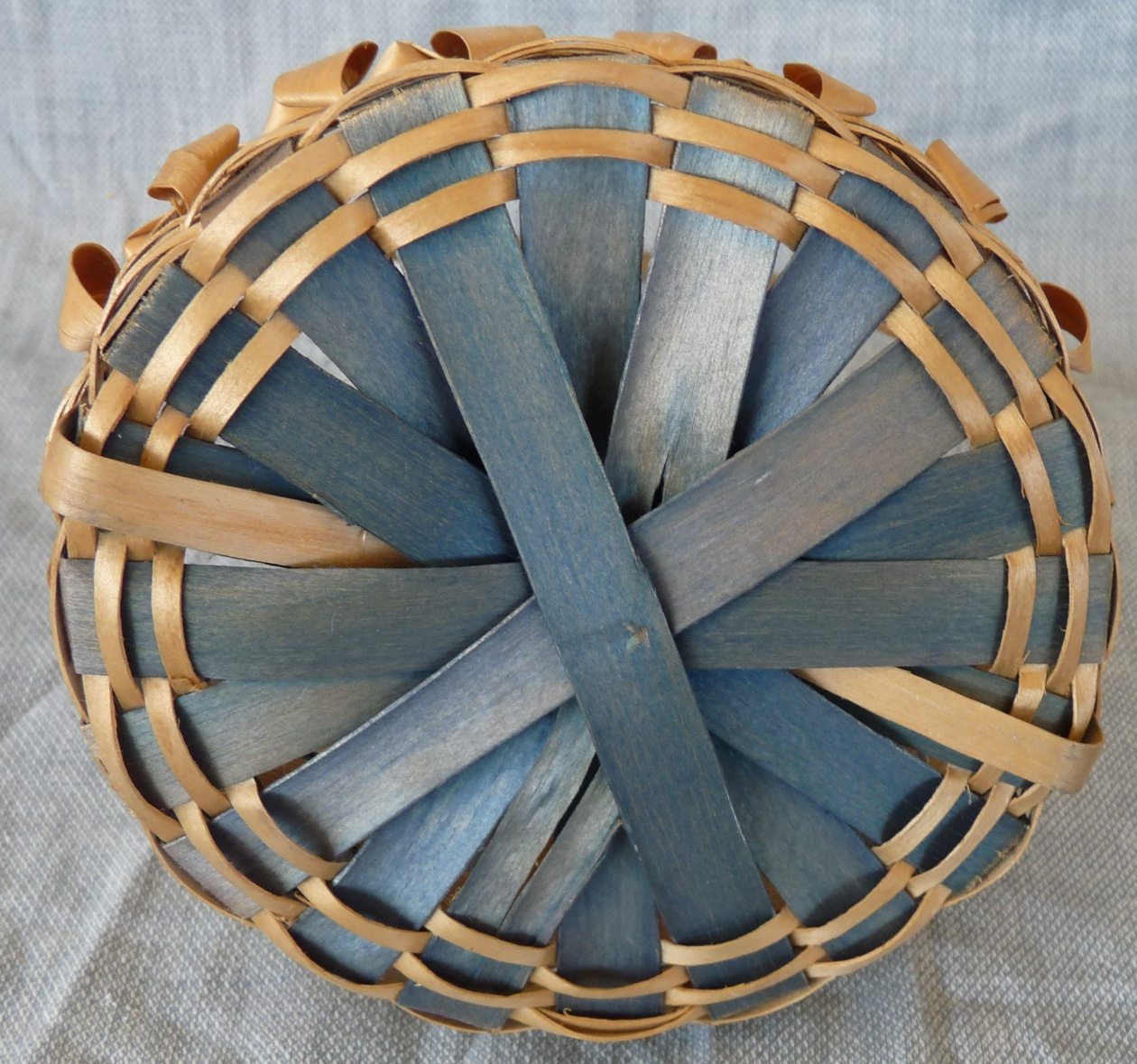 Fancy splint antique basket Native American ME Indian fancy vintage